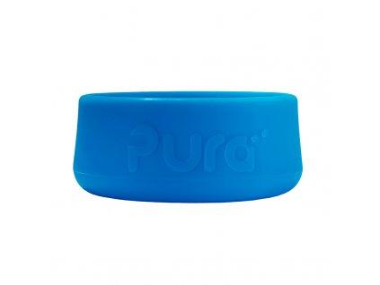 Silikonový chránič na lahev PURA modrý