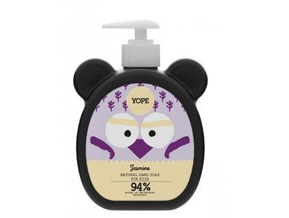 Tekuté mýdlo na ruce pro děti Yope s jamínem