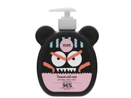 Tekuté mýdlo na ruce pro děti Yope s kokosem a mátou