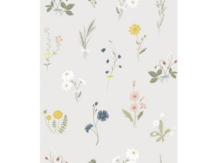 h0607 papier peint fleurs champs deco countryside