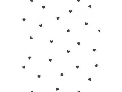 h0621 papier peint coeurs noir blanc