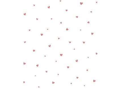 h0600 papier peint coeurs rose lilipinso