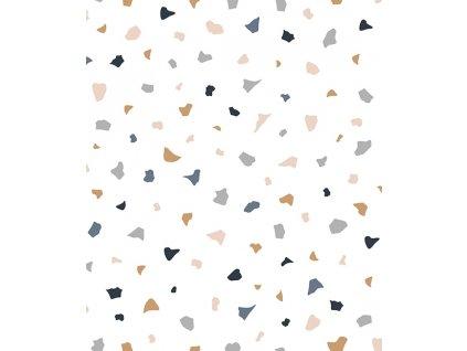 h0598 papier peint terrazzo deco lilipinso