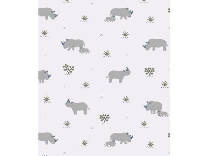 h0597 papier peint savane rhinoceros tanzania lilipinso