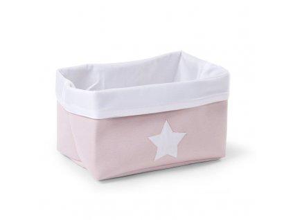 "Úložný box CHILDHOME Soft pink white ""S"""
