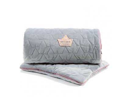 Sada prošívaná deka a polštář La Millou VELVET COLLECTION Dark grey