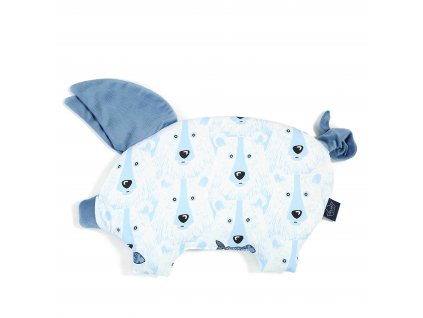 Polštářek La Millou Sleepy pig Denim & Arctic bear family