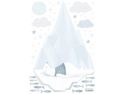Samolepka LILIPINSO Sleeping bear on Iceberg A3
