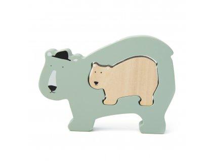 Trixie dřevěné puzzle - Mr. Polar Bear
