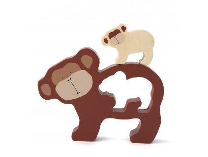 Trixie dřevěné puzzle - Mr. Monkey