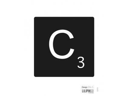 "Samolepka LILIPINSO písmenko ""C"""