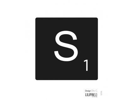 """Samolepka LILIPINSO písmenko """"S"""""""