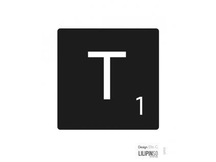 """Samolepka LILIPINSO písmenko """"T"""""""