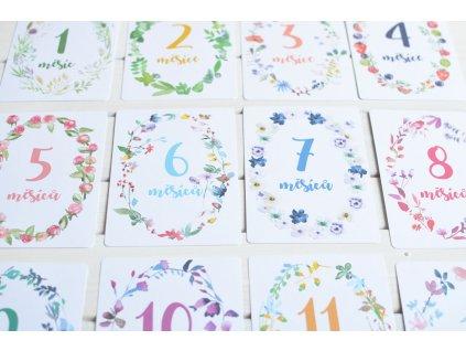 Milníkové kartičky By Myyna pro miminka 1 až 12 měsíců