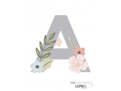 """Samolepka LILIPINSO písmenko Bloom """"A"""""""