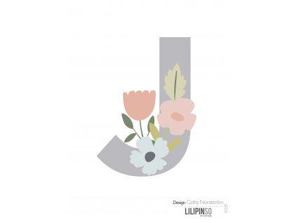 "Samolepka LILIPINSO písmenko Bloom ""J"""