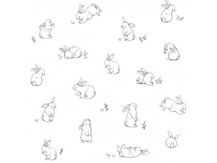 Tapeta LILIPINSO Bunnies in the country 50 cm x 10 m