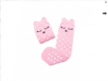 Screenshot 2021 06 28 at 13 31 49 Mama's Feet Dětské podkolenky s kočičkou Crazy Animals Pinky Kitty růžové Eliwood cz