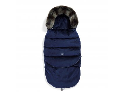 Luxusní fusak do kočárku La Millou VELVET COLLECTION Aspen Winterproof Royal Navy