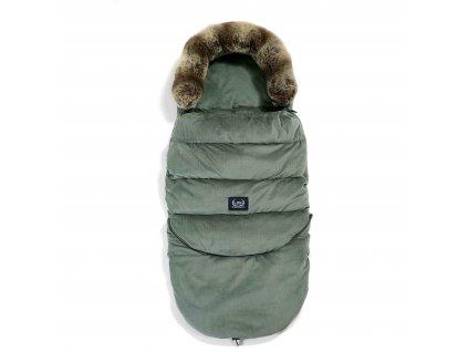 Luxusní fusak do kočárku La Millou VELVET COLLECTION Aspen Winterproof Khaki