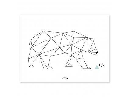 Plakat Lilipinso Origami bear