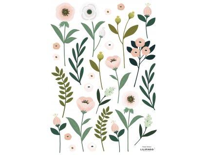 "Samolepka LILIPINSO Flowers & Leaves ""A3"""