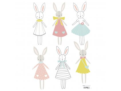 "Samolepka LILIPINSO Rabbits girl ""A3"""