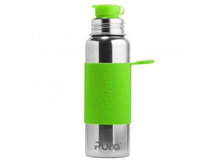 Nerezová lahev PURA se sportovním uzávěrem 850 ml zelená