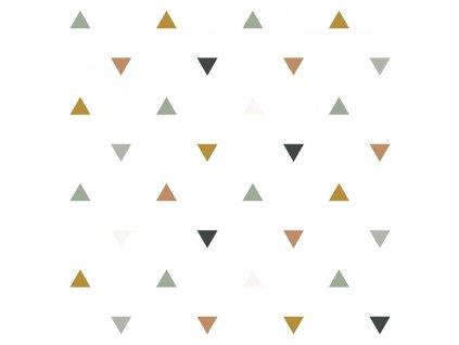 Tapeta LILIPINSO Triangles blue, grey, beige 50 cm x 10 m
