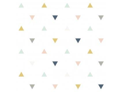 Tapeta LILIPINSO Triangles pink, mustard, grey 50 cm x 10 m