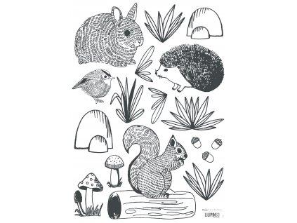 "Samolepka LILIPINSO Forest animals ""A3"""