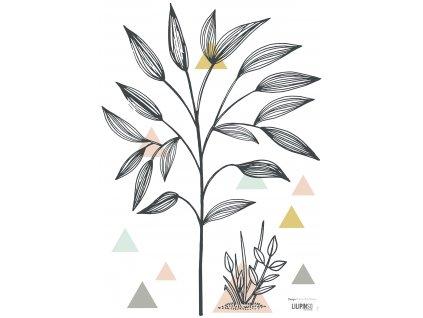 "Samolepka LILIPINSO Small trees and triangles ""A3"""