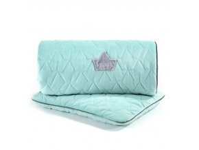 Sada prošívaná deka a polštář La Millou VELVET COLLECTION Audrey mint