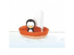 Plachetnice s tučňákem PLAN TOYS