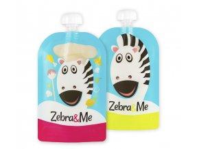 Kapsička na dětskou stravu Zebra& Me 2 ks Kuchař/Zebra