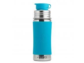 Nerezová lahev PURA se sportovním uzávěrem 325 ml modrá