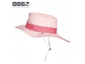 Klobouček oboustranný s UV ochranou 12 - 18 měsíců Panama Pink