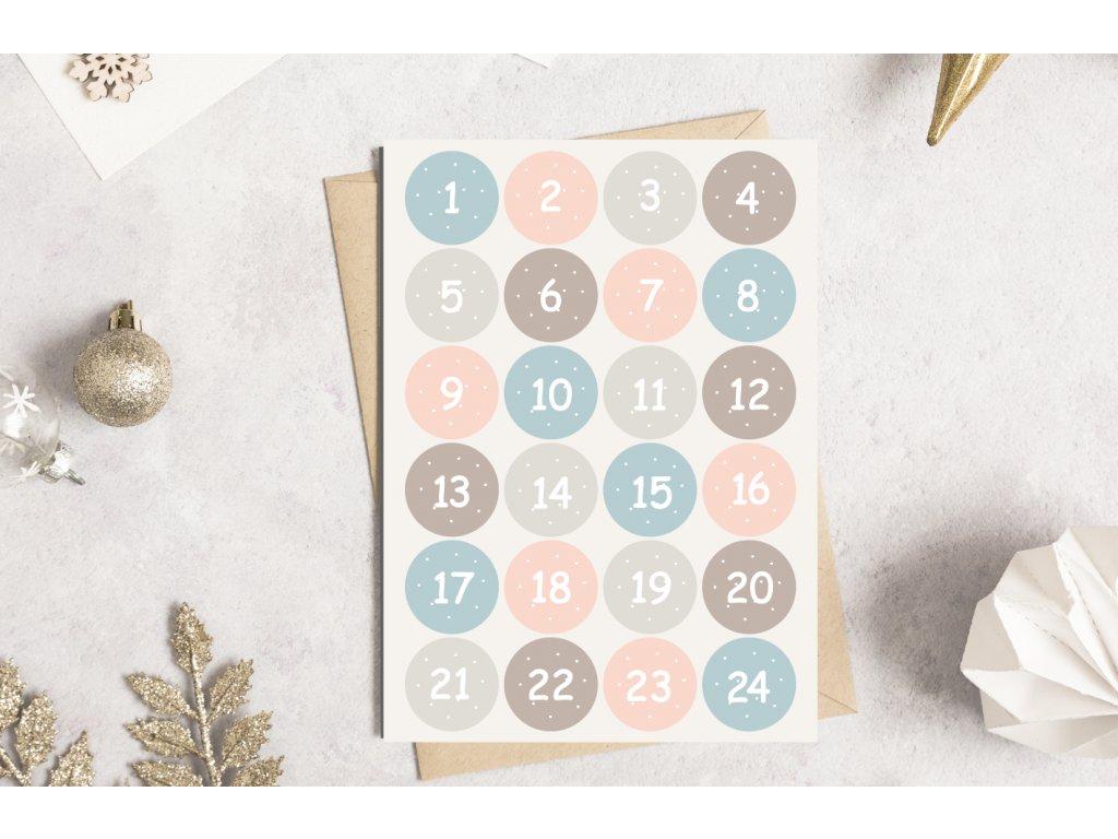 Samolepky na adventní kalendář