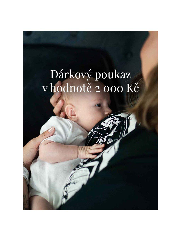 Dárkový poukaz v hodnotě 2 000 Kč na nákup zboží v obchodě www.littlehustler.cz