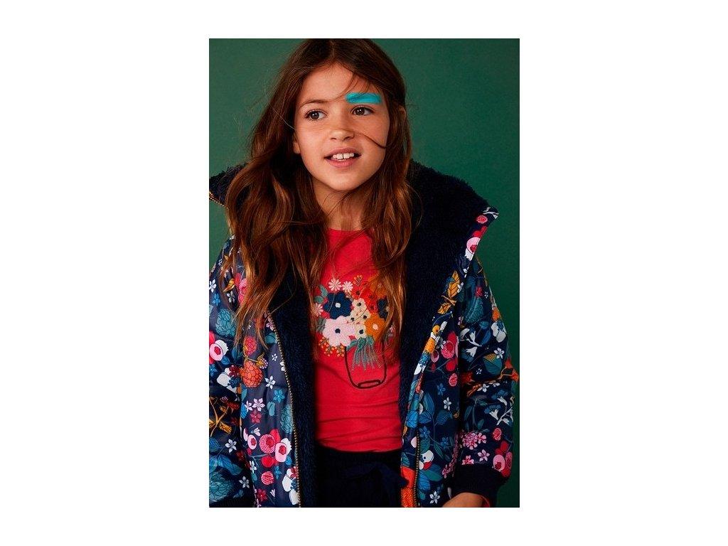 Dívčí triko s květinami BOBOLI