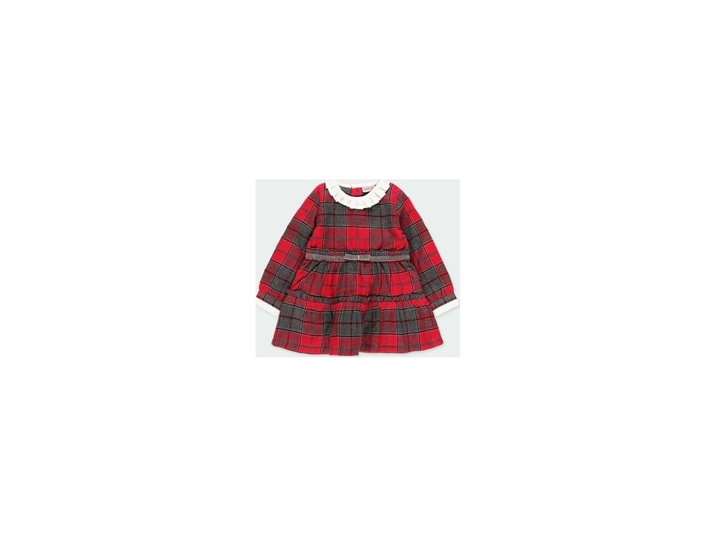 Dívčí kostkované šaty BOBOLI