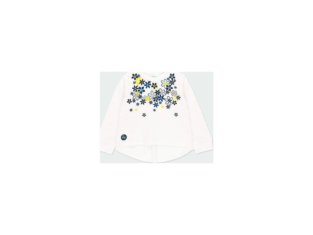 Dívčí tričko s žluto modrými květy Boboli