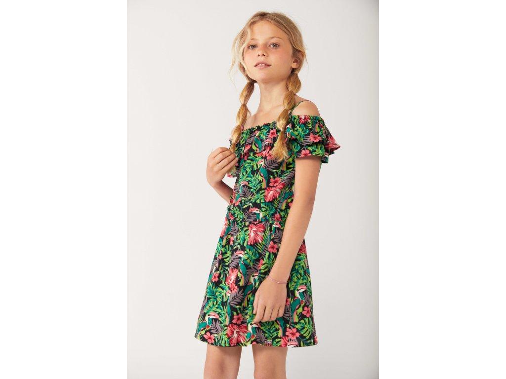 Šaty s tropickými motivy Boboli