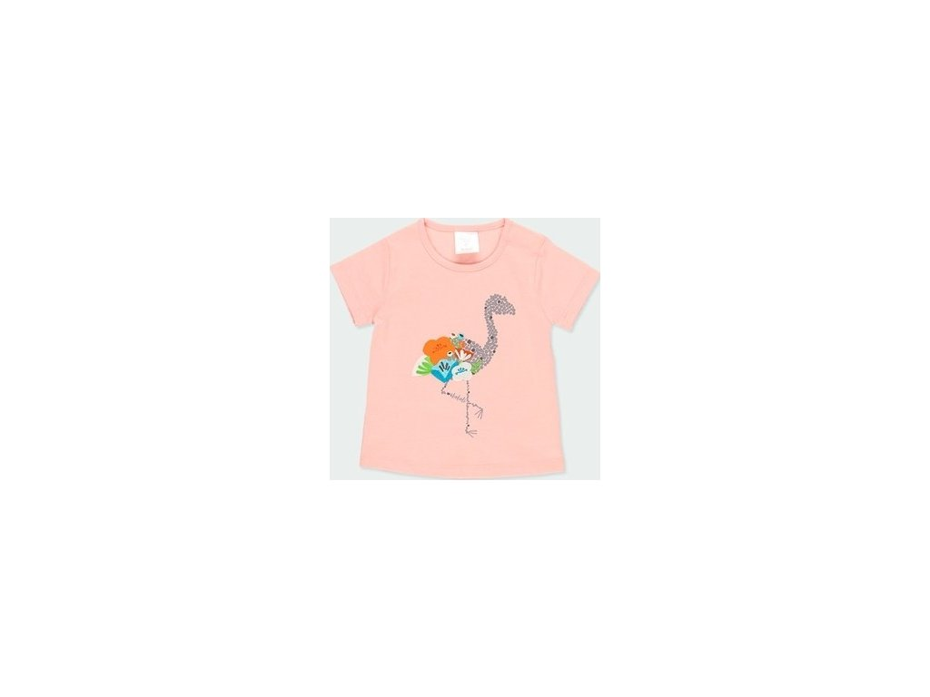 Dívčí tričko v lososové barvě Boboli