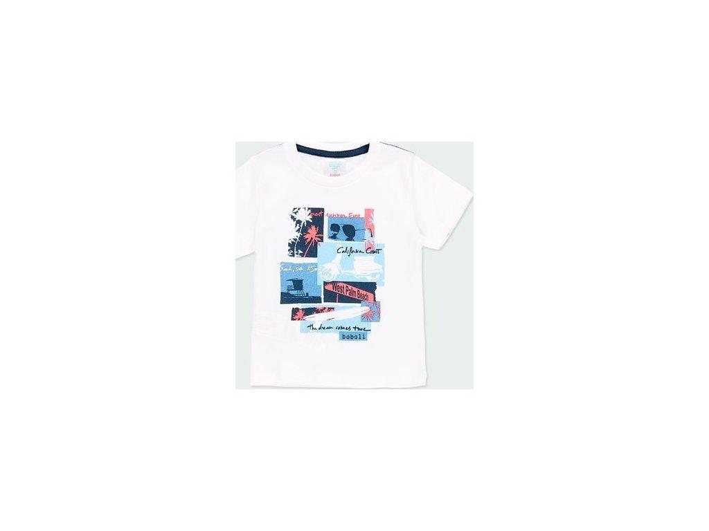 Bílé tričko pro chlapečka BOBOLI