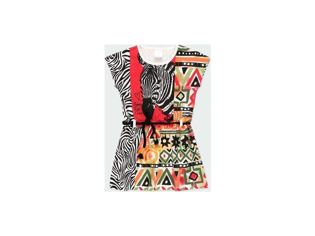 Elastické dívčí šaty s různými vzory Boboli