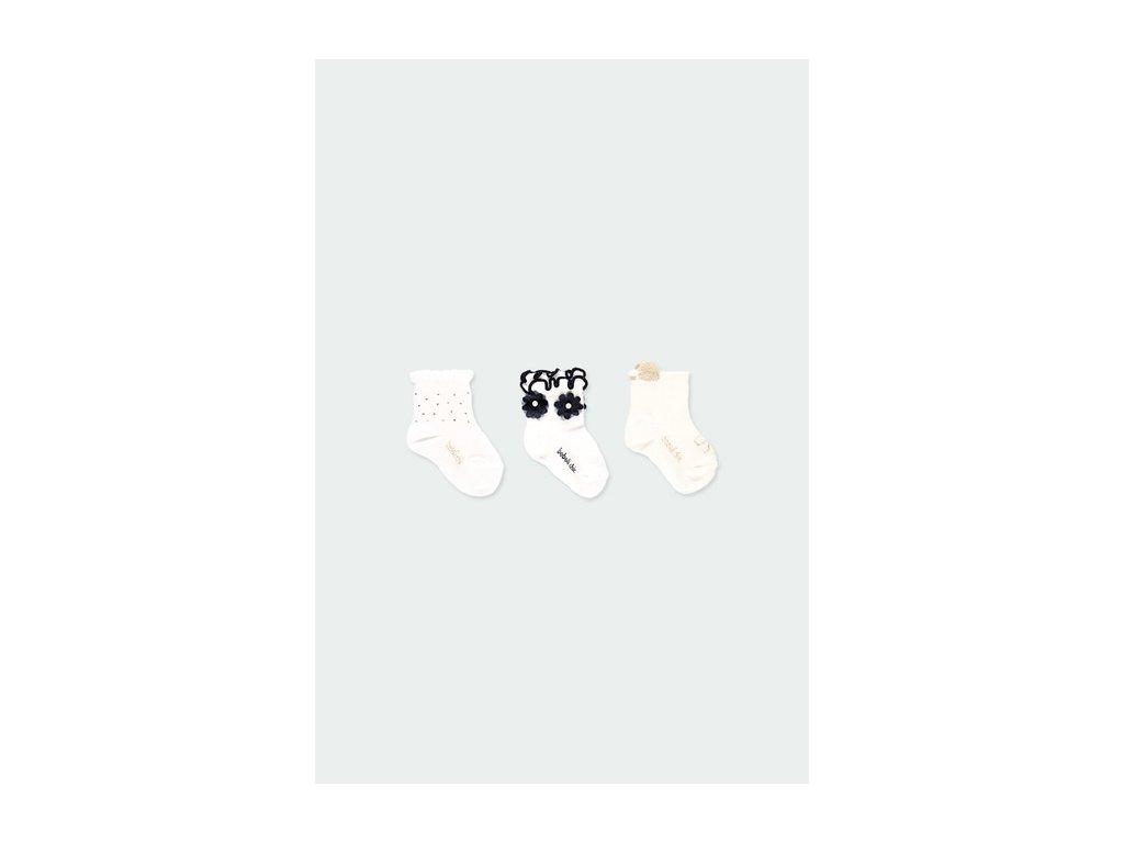 Dívčí ponožky -3 ks v balení Boboli