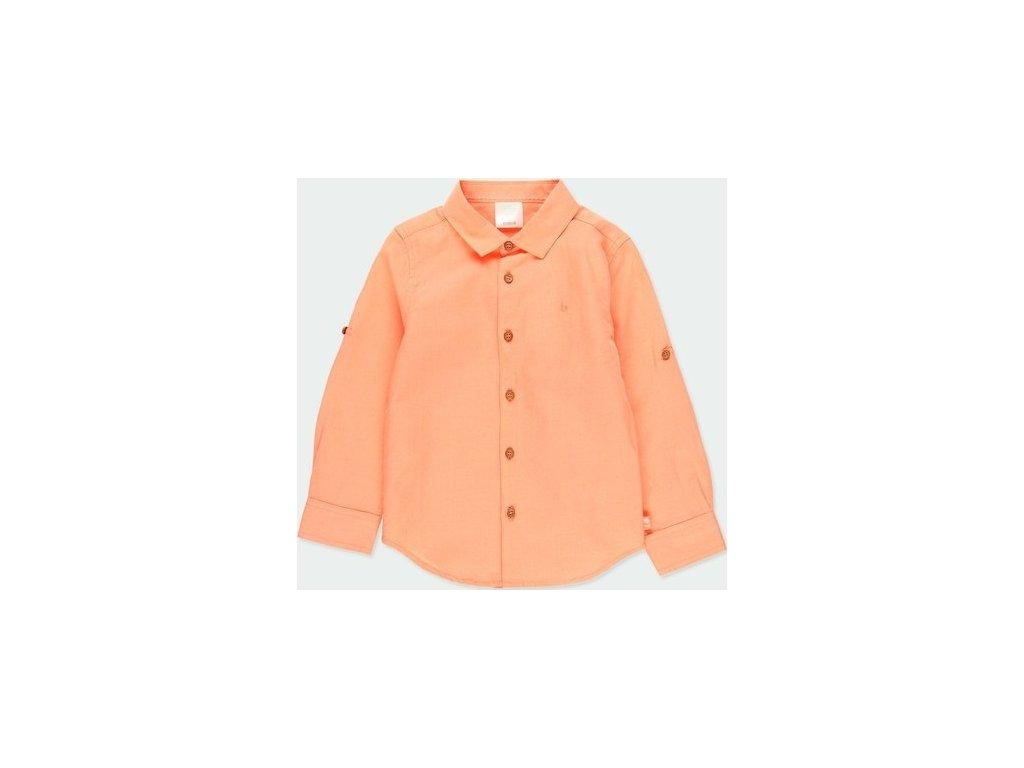 Meruňková lněná košile Boboli