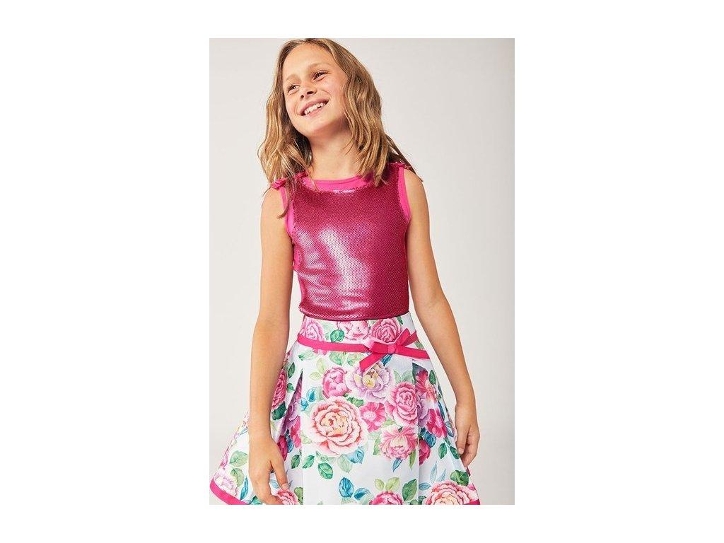 Dívčí sukně s květinami Boboli