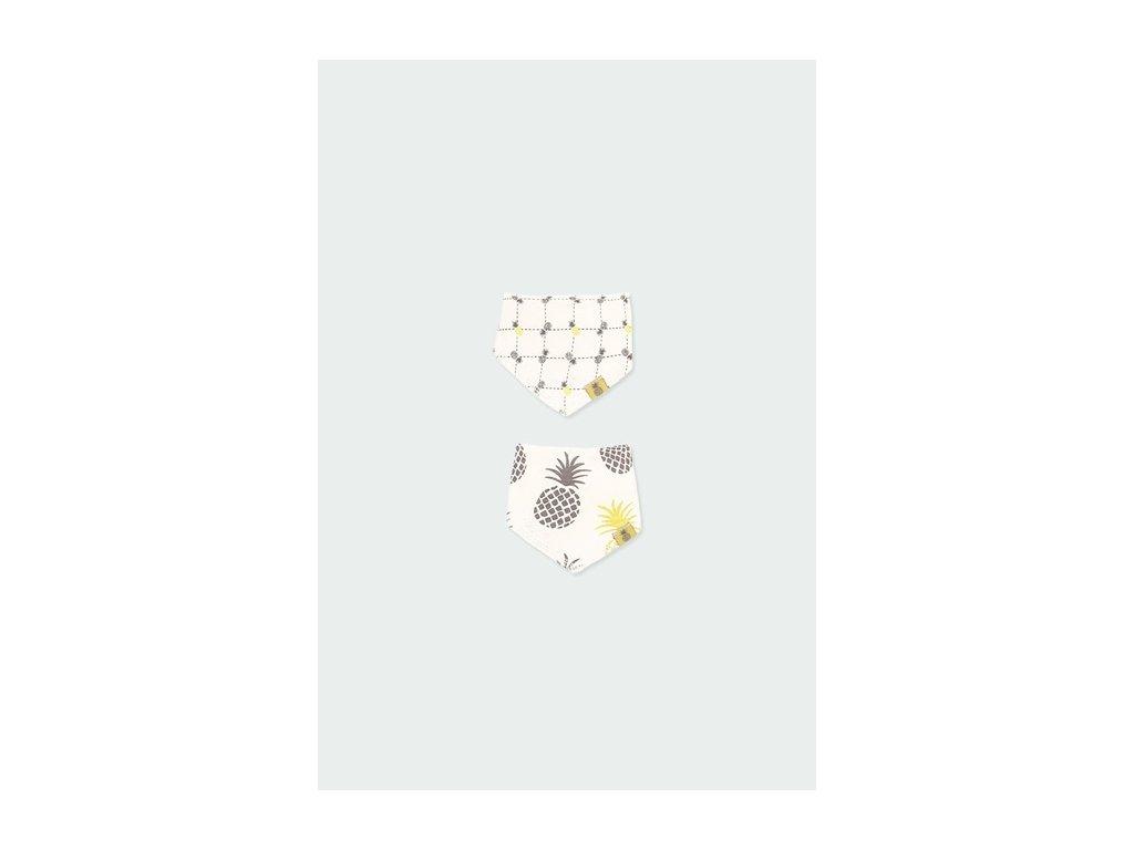 Bryndáček s motivy ananasu z organické bavlny - 2 ks v balení Boboli